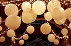 Carved Round Hanging Paper Lanterns Indoor For Party Decoration