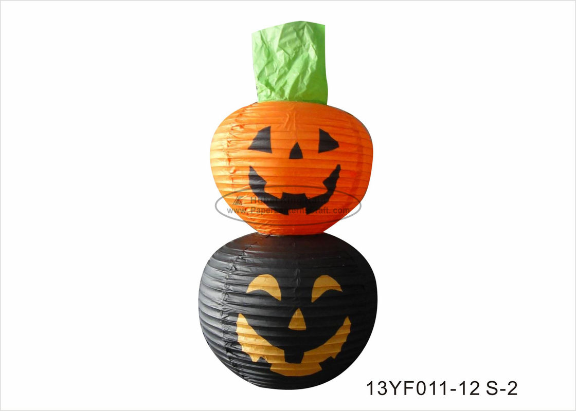 Custom Paper Halloween Decorations 40cm Halloween Face Pumpkin Printed