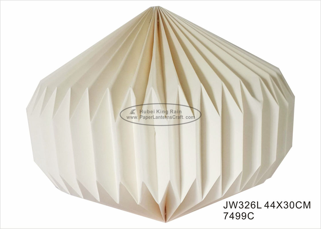 Ivory Wedding Origami Paper Lantern Hanging 30cm For Home Lighting Decoration