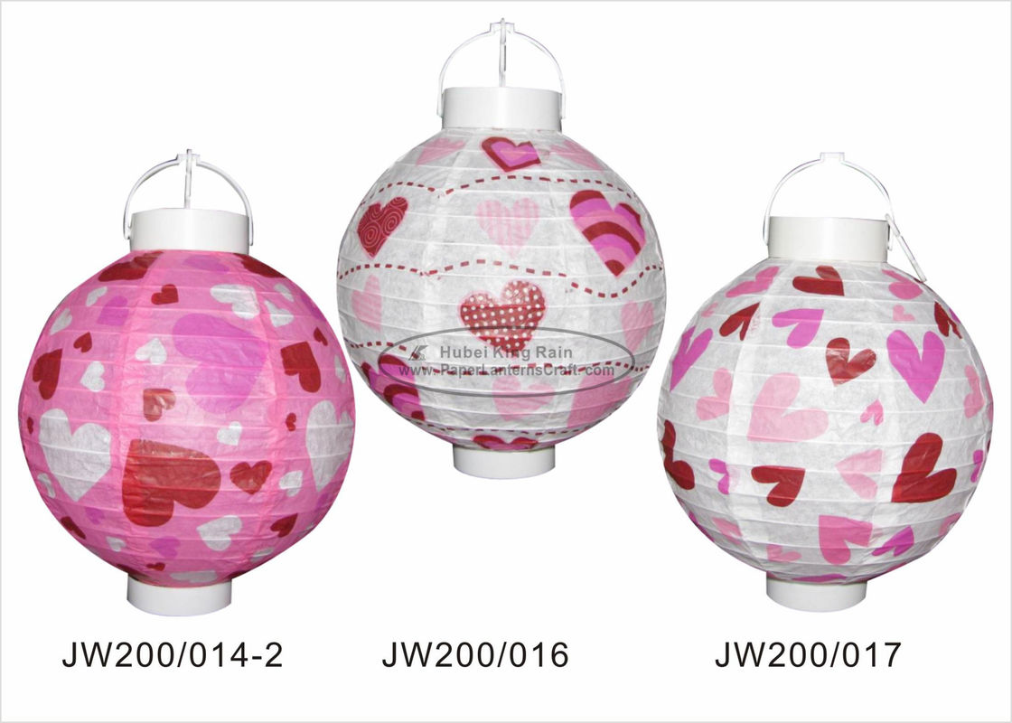 20cm Paper Wedding Decorations , Pink And Purple Paper Lanterns For Indoor Party