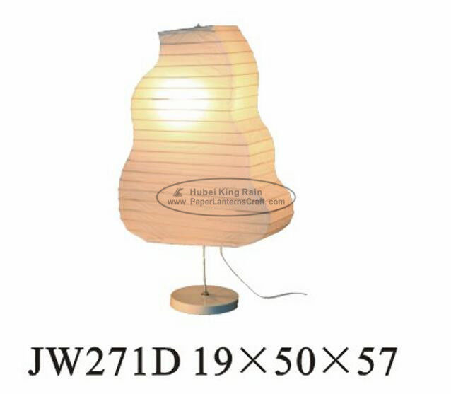 Lightweight White Tabletop Paper Lanterns , Pastel Coloured Paper Lanterns 19 X 50 X 57cm