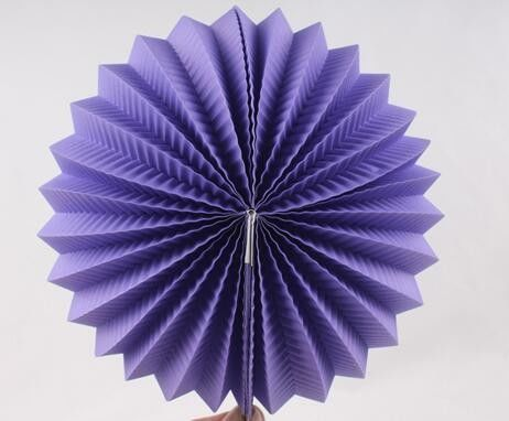 China Purple Paper Luxury Paper Accordion Lanterns / Balls With Round Shaped factory