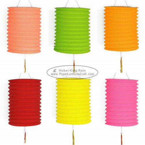 15 Cm Spring Garland Paper Lanterns Craft Diy Portable Handmade Christmas Ornaments