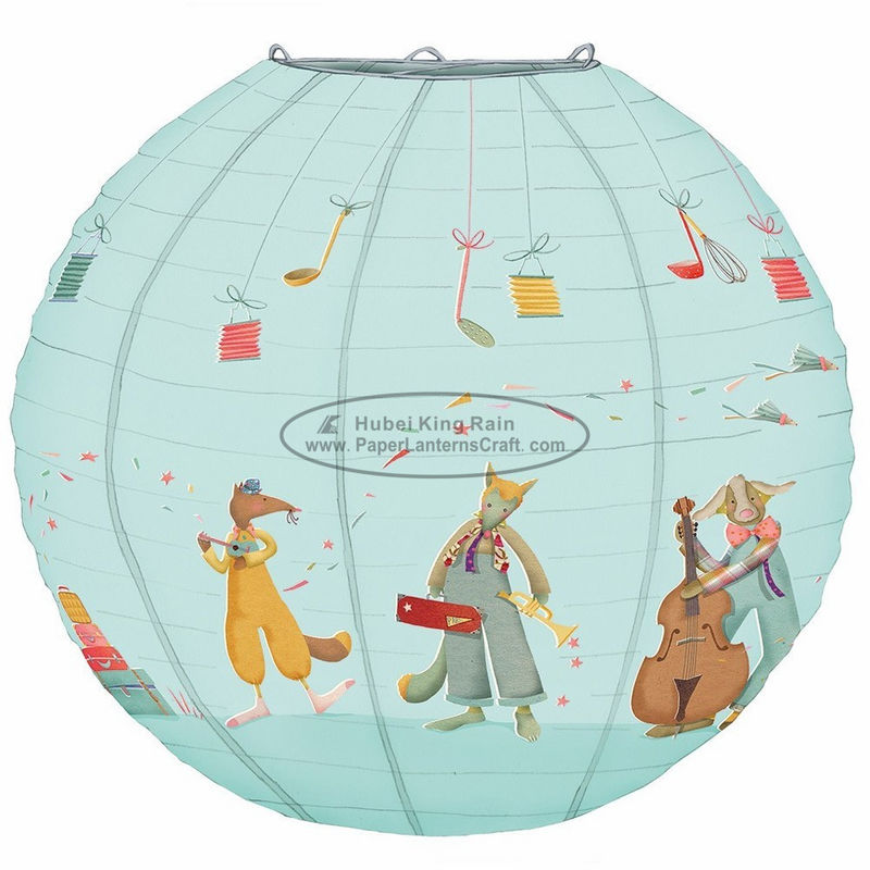 12 14 inch Printed animal print hanging paper lanterns Princess girl room decoration birthday