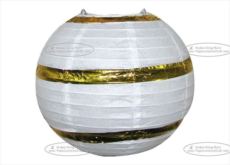 Hot Stamp Printed Round Paper Lanterns , Circle Paper Lanterns For Decoration
